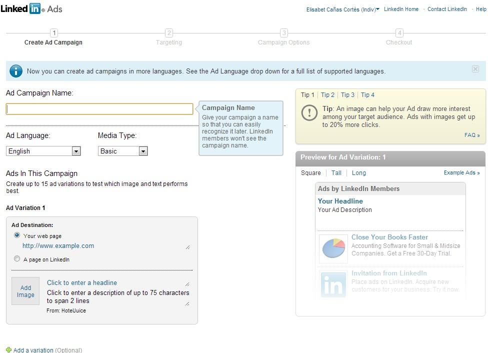 LinkedIn Ads - Cómo crear una campaña en LinkedIn Ads