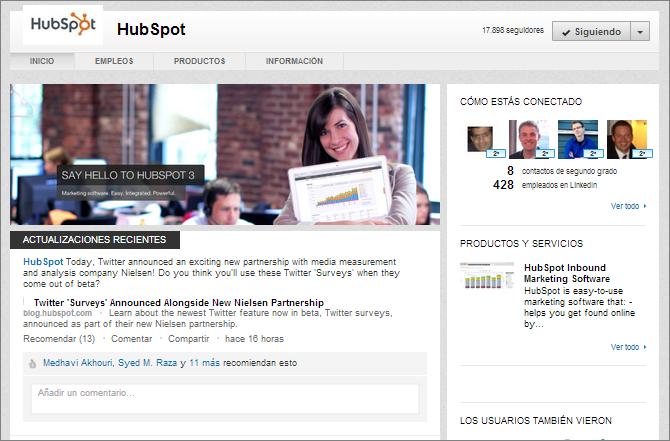 Nuevo Diseño de las páginas de empresa en Linkedin