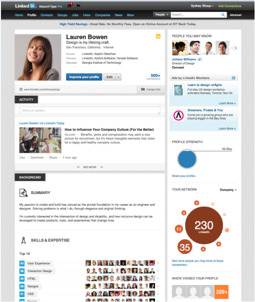 Nuevo perfil de LinkedIn