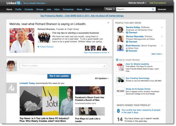 Seguir a personas influyentes en Linkedin