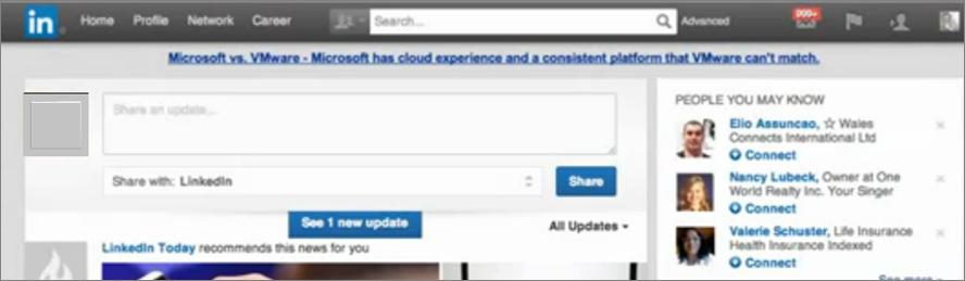 Nuevo diseño de LinkedIn
