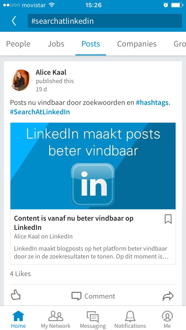 Vuelven los hashtags a LinkedIn