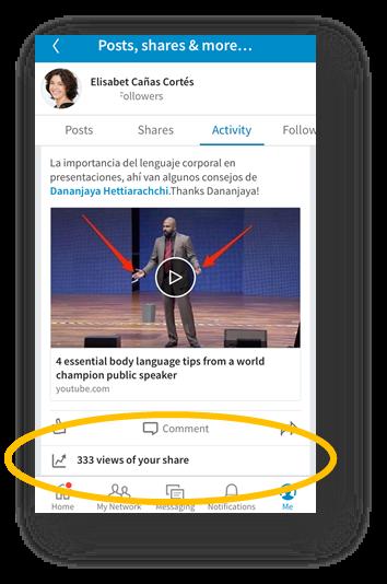 Nuevas estadísticas sobre actualizaciones para usuarios premium en LinkedIn