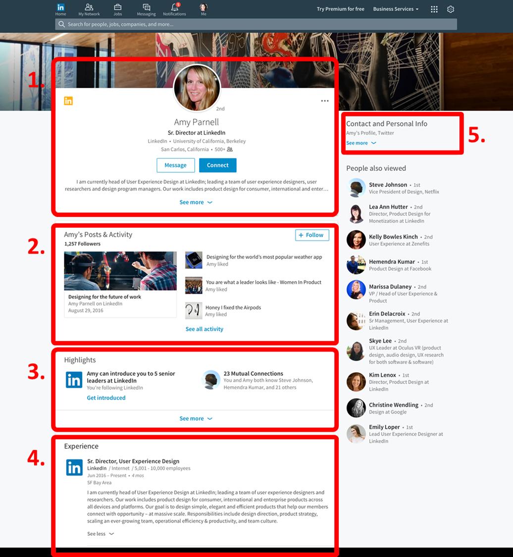 Rediseño LinkedIn _ Nuevos perfiles profesionales de LinkedIn