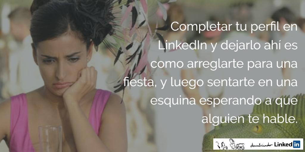 En LinkedIn no basta con completar el perfil _ Elisabet Cañas _ Descubriendo LinkedIn