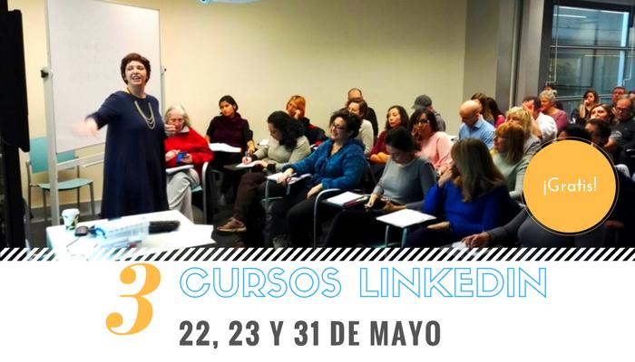 Este mes de mayo repetimos el ciclo de CURSOS LINKEDIN GRATUITOS en Barcelona