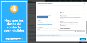 INFORMACIÓN DE CONTACTO LinkedIn