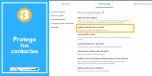 PROTEGE TUS CONTACTOS LinkedIn