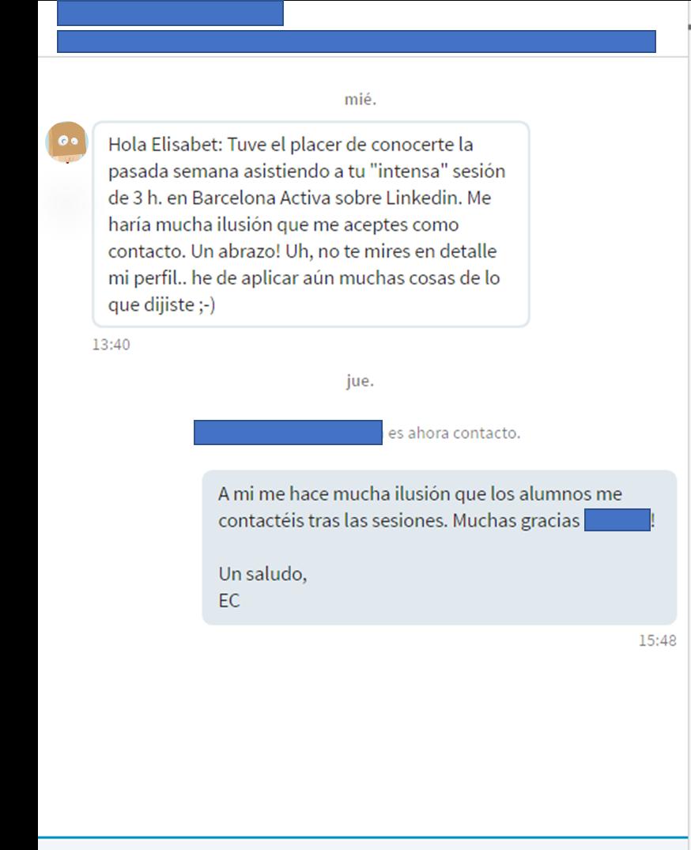 2 ejemplo enviar invitaciones personalizadas en LinkedIn