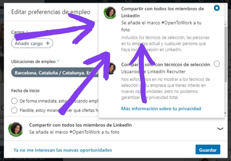 Como añadir el marco #OpenToWork en tu foto de perfil en LinkedIn