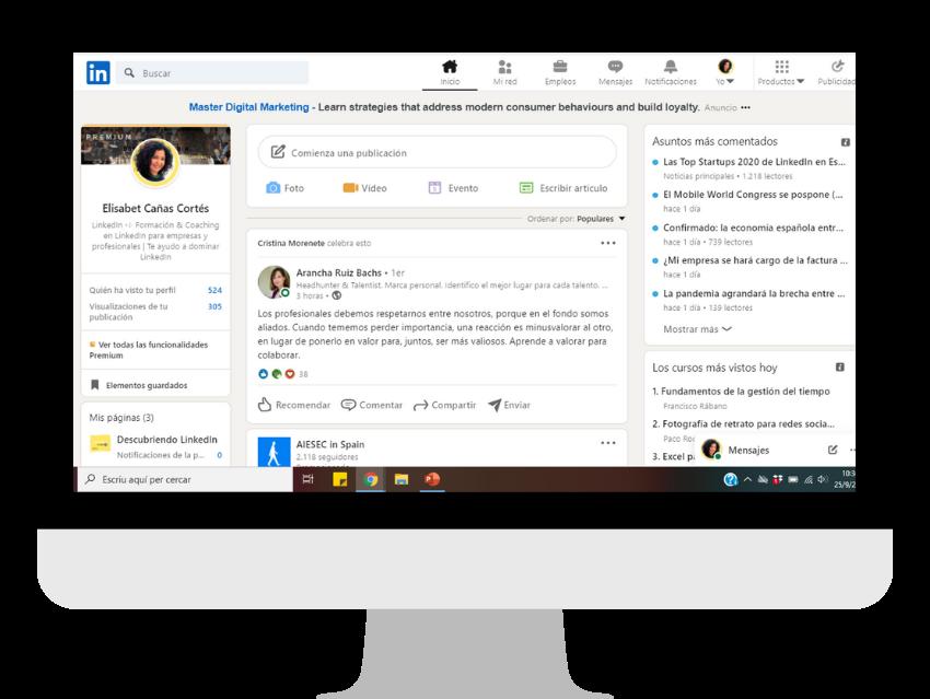 nuevo diseño LinkedIn 2020 _ Descubriendo LinkedIn by Elisabet Cañas