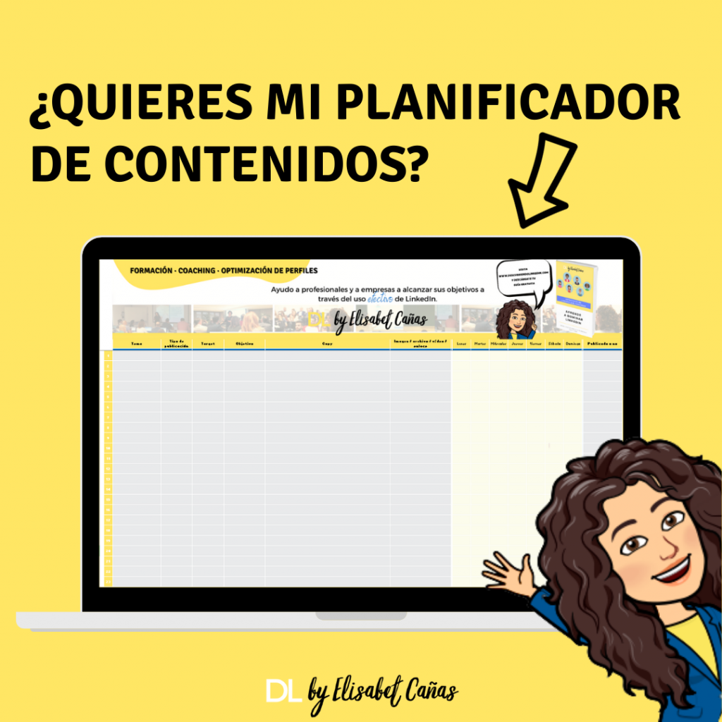 Planificador de contenidos para LinkedIn _ DL by Elisabet Cañas